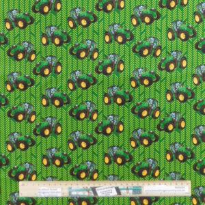 Quilting Patchwork Fabric TRACTORS GREEN JOHN DEERE 50x55cm FQ Material