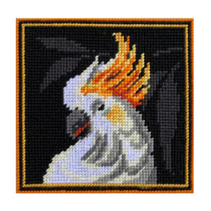 Country Threads Tapestry Printed WHITE COCKATOO Kit Incl Threads FJK-002