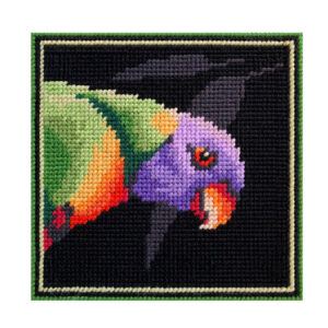 Country Threads Tapestry Printed RAINBOW LORIKEET Kit Incl Threads FJK-003