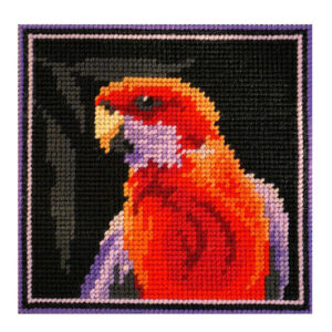 Country Threads Tapestry Printed CRIMSON ROSELLA Kit Incl Threads FJK-004
