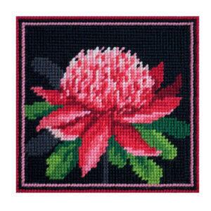 Country Threads Tapestry Printed WARATAH Kit Incl Threads FJK-005