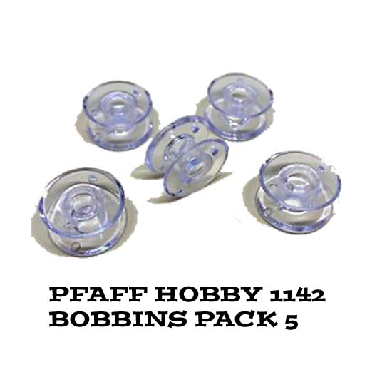 Pfaff Clear Set of 5 Sewing Machine Bobbins for Hobby 1142 Machines