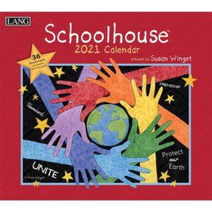 Lang 2021 Calendar SCHOOLHOUSE Calender Fits Wall Frame