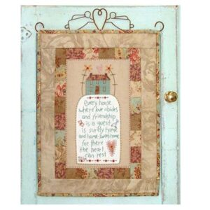 The Birdhouse Designs Sewing HOME SWEET HOME Wallhanging Pattern