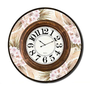 Clock Country Vintage Inspired Wall Large BISMARK Foliage 60cm
