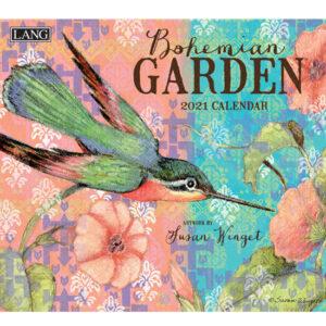 Lang 2021 Calendar BOHEMIAN GARDEN Calender Fits Wall Frame