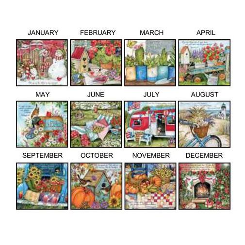 Lang 2021 Calendar BOUNTIFUL BLESSINGS Calender Fits Wall Frame