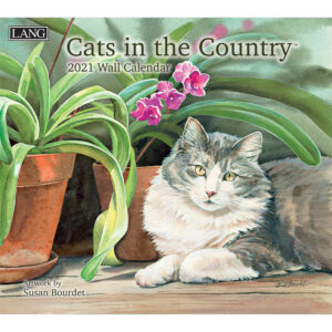 Lang 2021 Calendar CATS IN THE COUNTRY Calender Fits Wall Frame