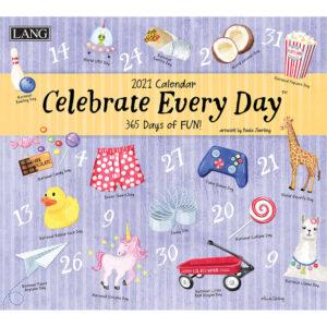 Lang 2021 Calendar CELEBRATE EVERYDAY Calender Fits Wall Frame