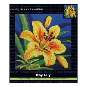 Country Threads Long Stitch Kit DAY LILY FLS-5003 Inc Threads