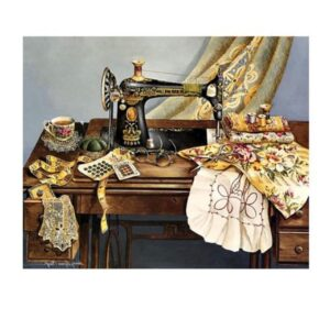 5D Diamond Painting Full Image Square Drills SINGER SEWING 40x50cm