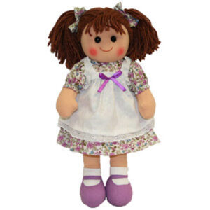 Hopscotch Lovely Soft Rag Doll ELIZABETH Girl Dressed Doll Large 35cm