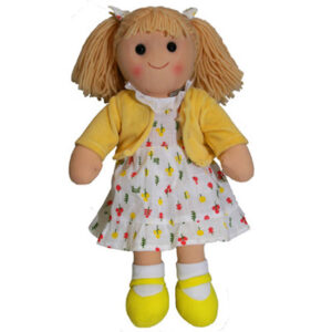 Hopscotch Lovely Soft Rag Doll ELSIE Girl Dressed Doll Large 35cm