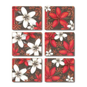 Country Inspired Kitchen ESSENCE Cinnamon Cork Backed Coasters Set 6