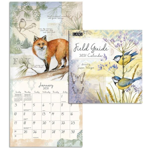 Lang 2021 Calendar FIELD GUIDE Calender Fits Wall Frame