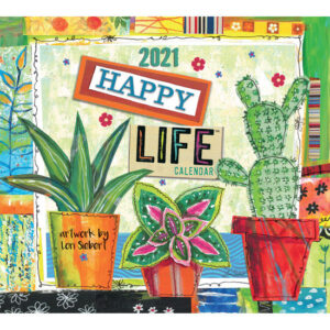 Lang 2021 Calendar HAPPY LIFE Calender Fits Wall Frame