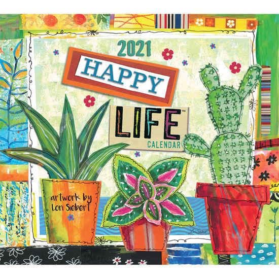 Lang 2021 Calendar HAPPY LIFE Calender Fits Wall Frame