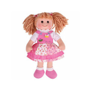 Lovely Soft Rag Doll HAYLEY Pink Dress Girl Doll Medium 25cm