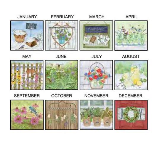 Lang 2021 Calendar HERB GARDEN Calender Fits Wall Frame