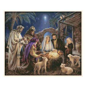 Cross Stitch Kit BIRTH OF BABY JESUS X Stitch Joy Sunday Inc Threads