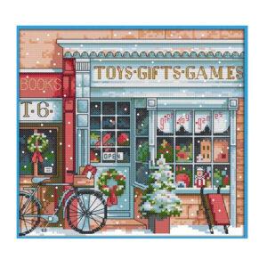 Cross Stitch Kit GIFT TOY SHOP X Stitch Joy Sunday Inc Threads