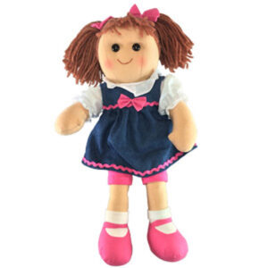 Hopscotch Lovely Soft Rag Doll LACEY Girl Dressed Doll Large 35cm