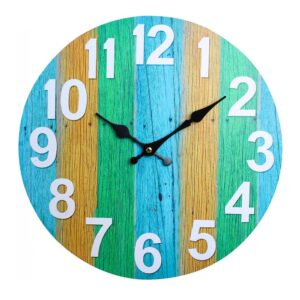 Clocks Wall Hanging Citrus Boardwalk Clock 34cm