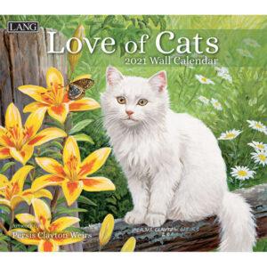 Lang 2021 Calendar LOVE OF CATS Calender Fits Wall Frame