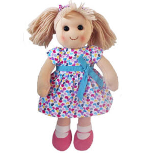 Hopscotch Lovely Soft Rag Doll MILA Girl Dressed Doll Large 35cm