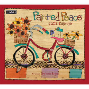 Lang 2021 Calendar PAINTED PEACE Calender Fits Hanging Wall Frame