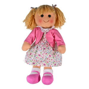 Hopscotch Lovely Soft Rag Doll PEGGY Girl Dressed Doll Large 35cm