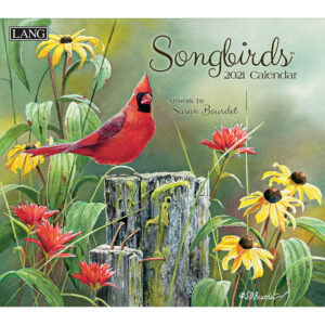 Lang 2021 Calendar SONGBIRDS Calender Fits Wall Frame