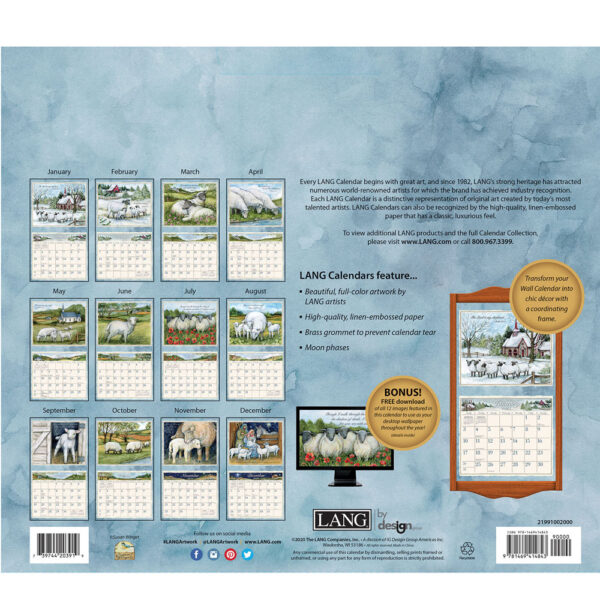 Lang 2021 Calendar THE LORD IS MY SHEPHERD Calender Fits Wall Frame