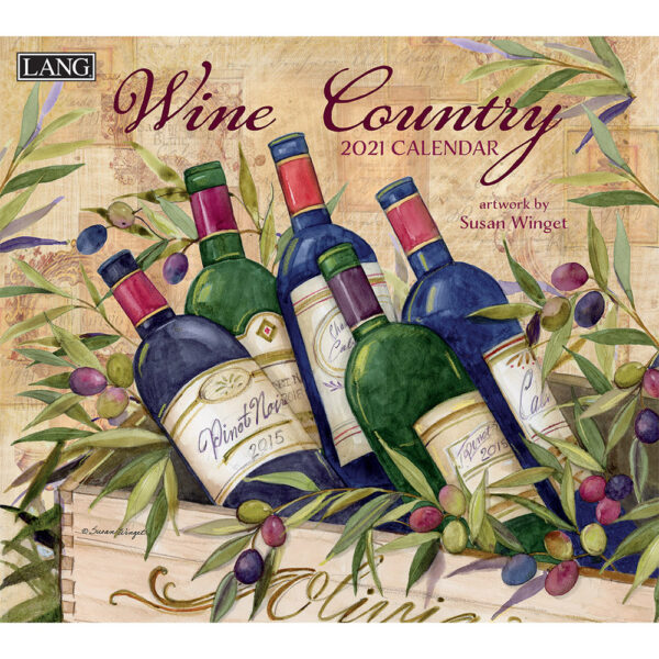 Lang 2021 Calendar WINE COUNTRY Calender Fits Wall Frame