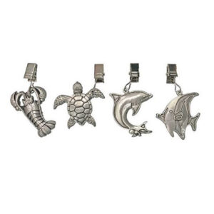D.Line Pewter Tablecloth Weights SEA LIFE Set of 4 for Outdoors