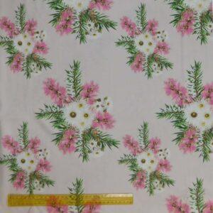 Quilting Patchwork Fabric AUSSIE BUSH FLORAL LARGE 50x55cm FQ