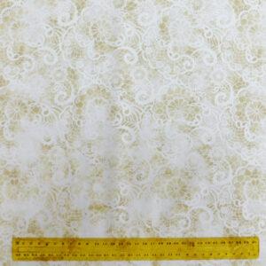 Quilting Patchwork Fabric CREAM DOILY LUSTER 50x55cm FQ Material