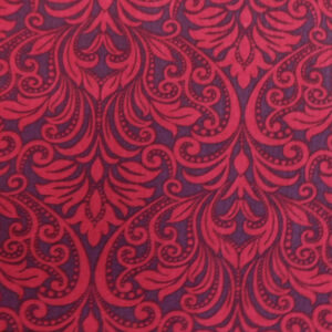 Quilting Patchwork Fabric RED SWIRL 50x55cm FQ Material