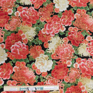 Quilting Patchwork Fabric JAPANESE LARGE FLORAL 50x55cm FQ Material