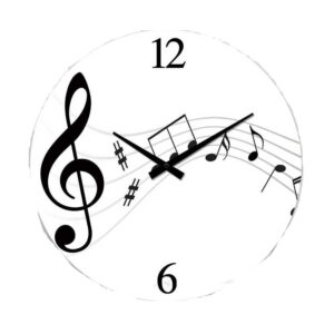 Clock French Country Wall Clocks 17cm MUSICAL NOTES Small