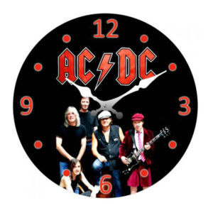 Clock French Country Wall Clocks 17cm ACDC Australian Band Small