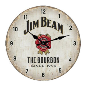Clock French Country Wall Small Clocks 17cm JIM BEAM WHISKY ALCOHOL