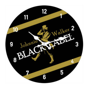 Clock French Country Wall Clocks 17cm JOHNNY WALKER BLACK Small