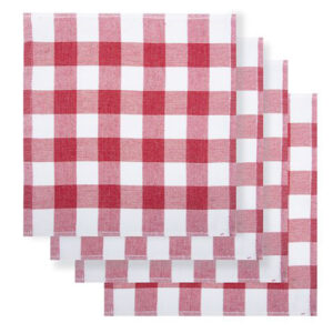Rans Country Dish Cloths Eco Friendly RED Super Absorbent Pack of 4