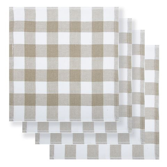 Rans Country Dish Cloths Eco Friendly TAUPE Super Absorbent Pack of 4