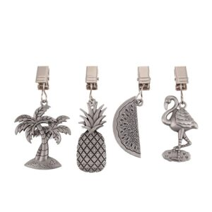 D.Line Pewter Tablecloth Weights Tropical Set of 4 for Outdoors