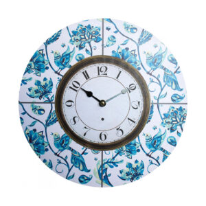Clocks Wall Hanging Vintage Looking Bluebirds Time Clock 34cm