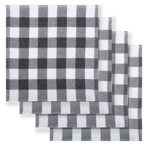 Rans Country Dish Cloths Eco Friendly BLACK Super Absorbent Pack of 4