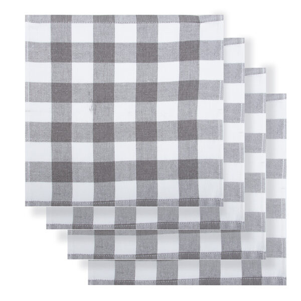 Rans Country Dish Cloths Eco Friendly GREY Super Absorbent Pack of 4