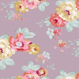 Quilting Sewing Fabric TILDA Maple Farm Pauline Mauve 50x55cm FQ
